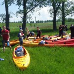 impreza integracyjna na spływie