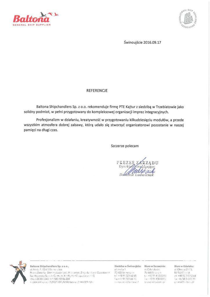 Baltona Shipchandlers Sp. z o.o.  Świnoujście