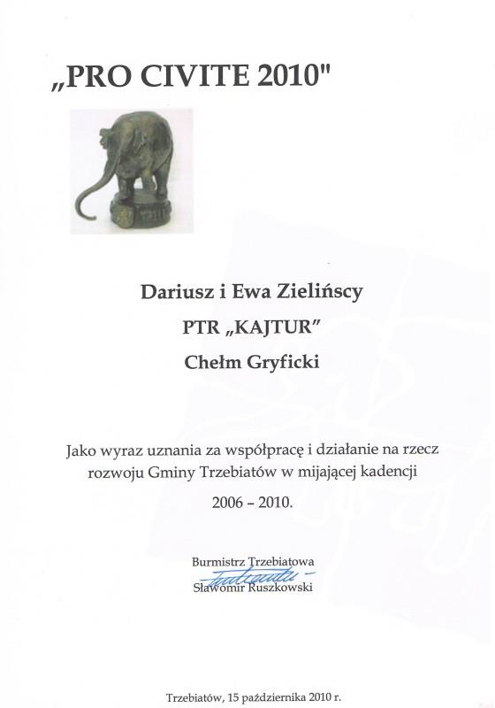 Pro civite Burmistrza Miasta i Gminy Trzebiatów