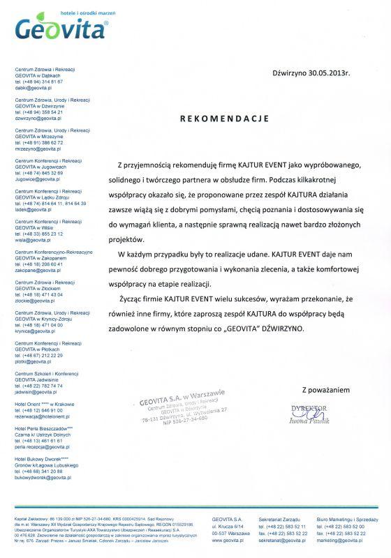GEOVITA Dźwirzyno