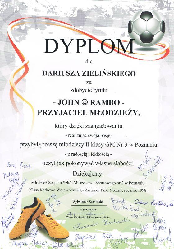 Dyplom - Szkoła GM Nr3 w Poznaniu