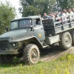 przejażdżki sprzętem wojskowym
